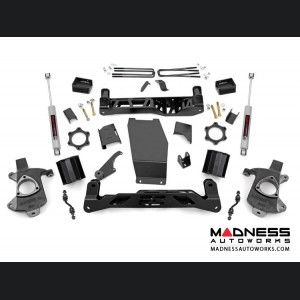 """Chevy Silverado 1500 4WD Suspension Lift Kit w/ N3 Shocks - 5"""" Lift -  Aluminum Stamped Steel Control Arms"""
